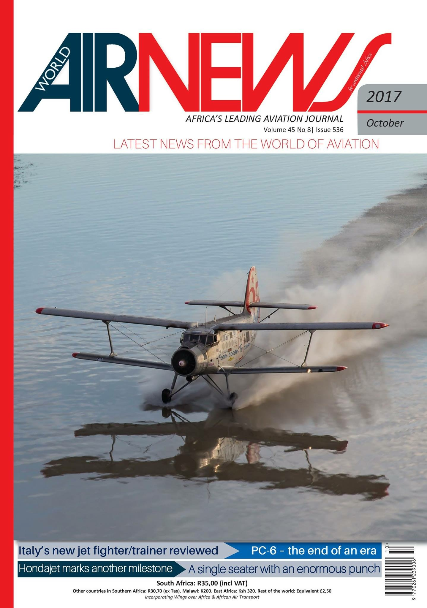 Airnews is Africa's oldest aviation magazine.