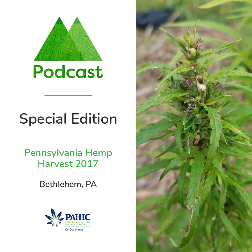Special Edition- On location in Bethlehem Pa Industrial Hemp Field-Les Stark & Erica McBride of PAHIC