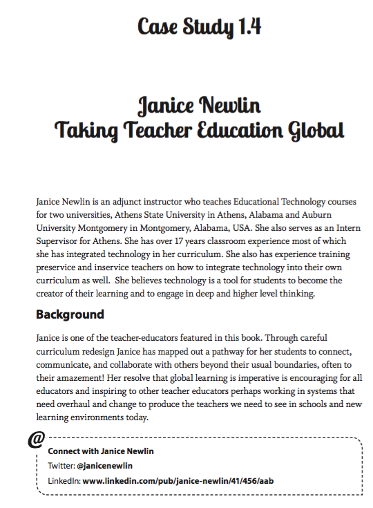 The Global Educator Case study 1.4 - Janice Newlin