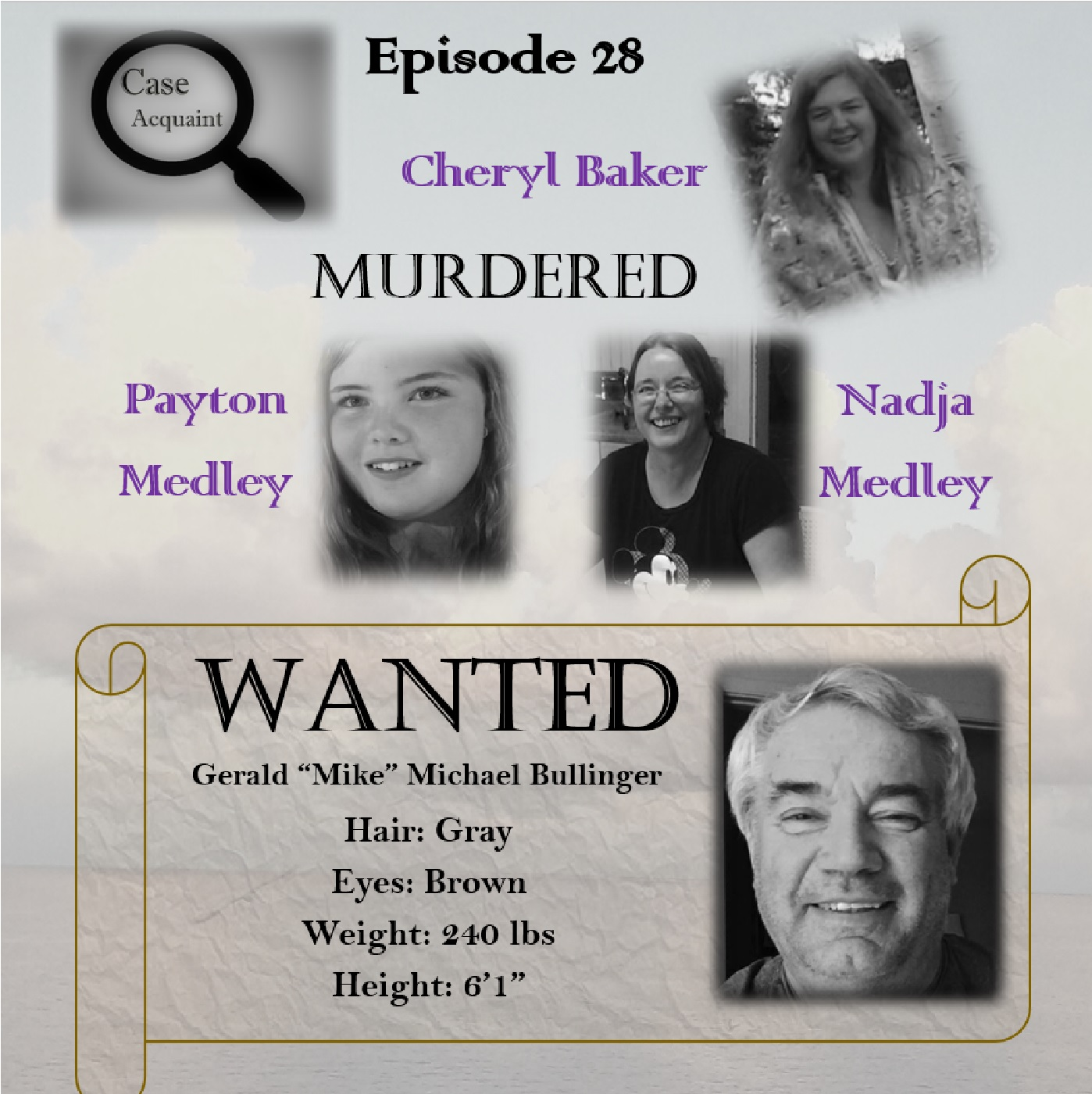 Ep 28 MURDERED Cheryl Baker, Nadja Medley, & Payton Medley
