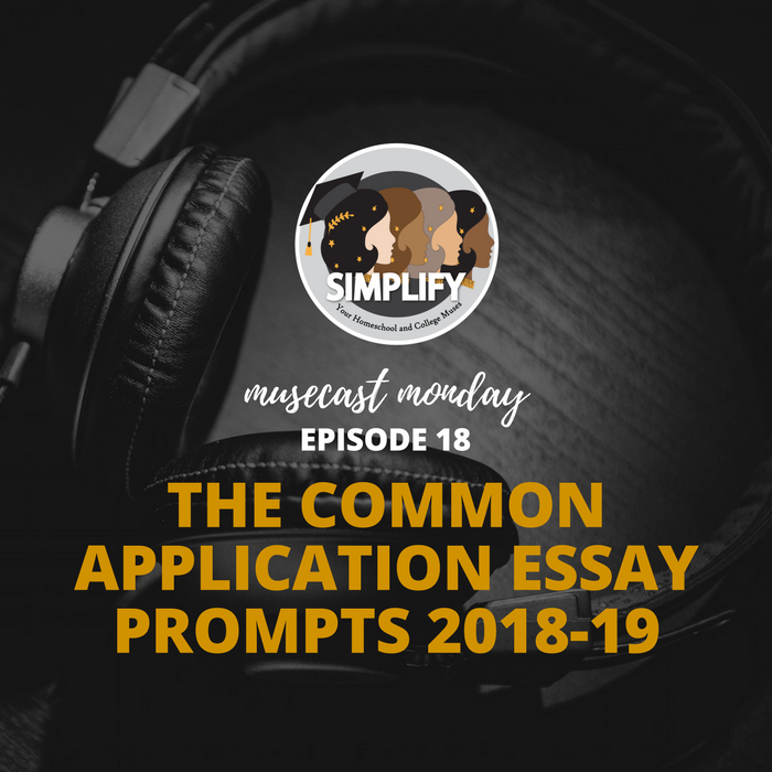 The Common Application Essay Prompts 2018-19