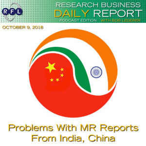 Problems With MR Reports From India, China