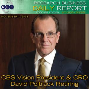 CBS Vision President & CRO David Poltrack Retiring
