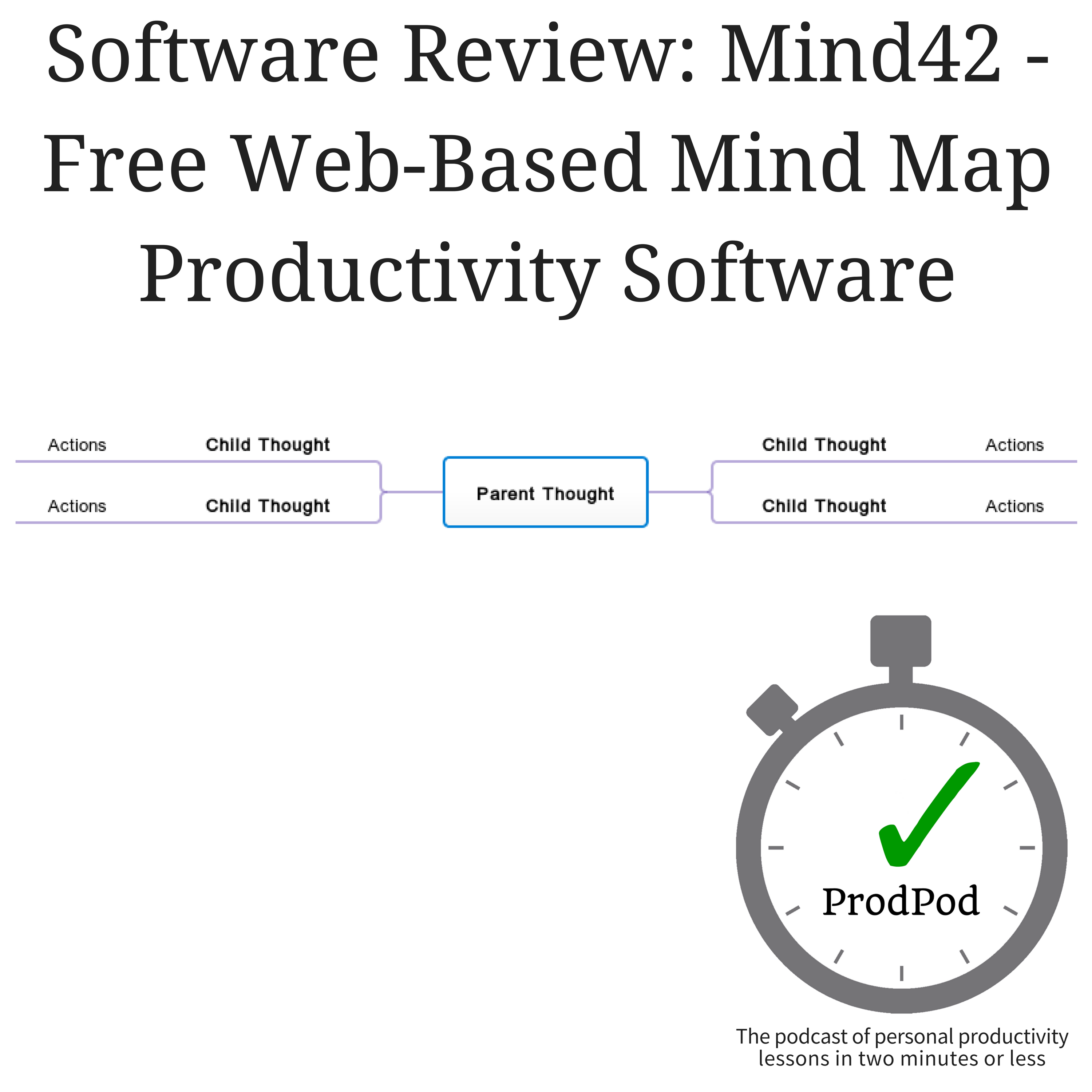 ProdPod: Episode 101 -- Software Review: Mind42 - Free Web-Based Mind Map Productivity Software