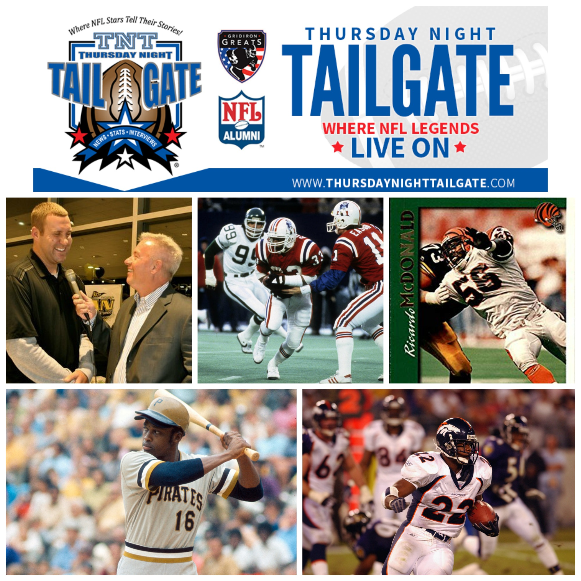Paul Alexander, Tony Collins, Ricardo McDonald, Al Oliver, and Olandis Gary join us on this episode of Thursday Night Tailgate