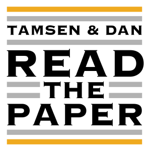 Tamsen and Dan Read the Paper
