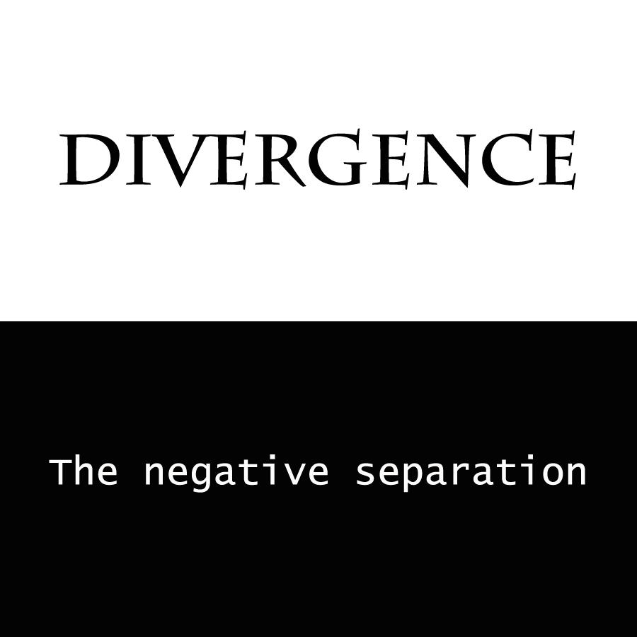 Divergence: the negative separation