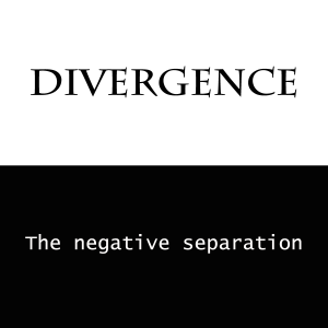 Divergence: the negative separation
